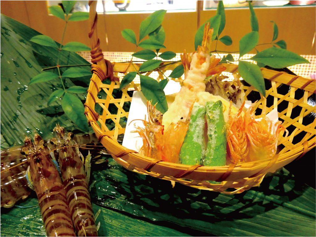【日本料理】海老の天ぷら&わらび餅 @ ecole UMEDA