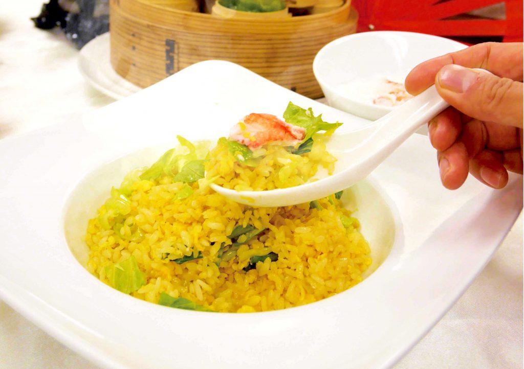 【中国料理】カニチャーハン&海老のチリソース @ 和泉校本校