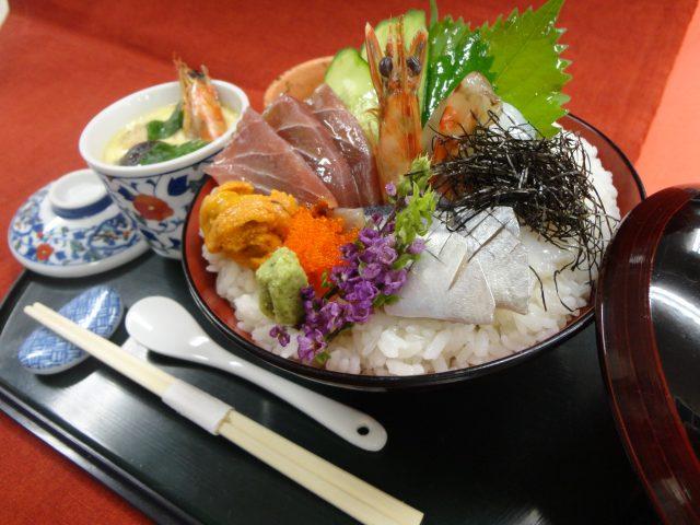 AO入試エントリー資格取得!【日本料理】海鮮丼 @ ecole UMEDA