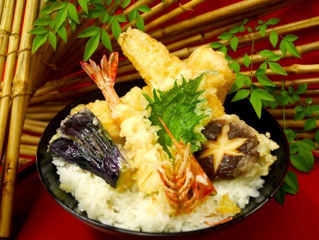 【日本料理】エビの天ぷら丼 @ 和泉校本校