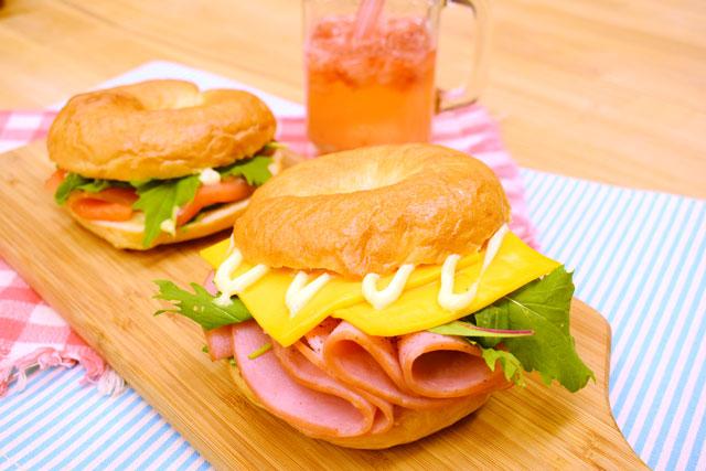 【製パン】ベーグルサンド @ 和泉校本校