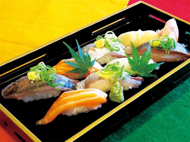【午前】日本料理:握りすしの盛り合わせ